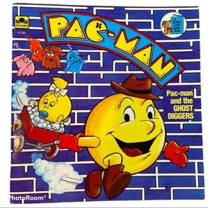 Vintage 1983 Pac-man and the Ghost Diggers book